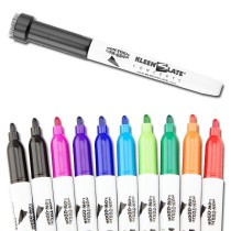 10-Pack Multi-Color Dry Erase Markers with Eraser Caps