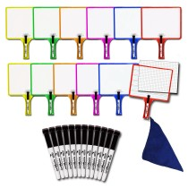 Class Set of 12 Customizable Whiteboards with Dry Erase Sleeves