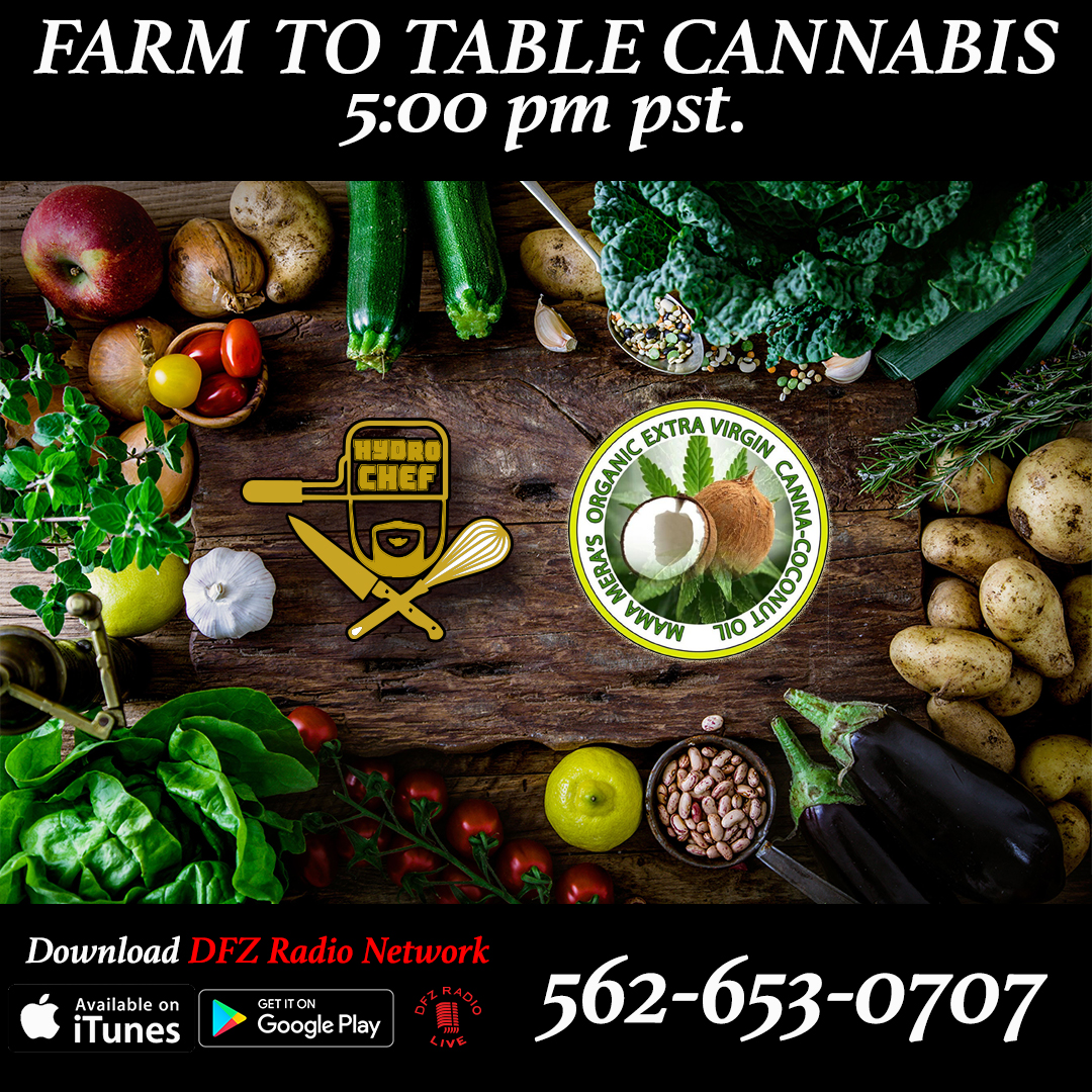 Farm to Table Cannabis ep # 7 w/ @mamamerasmedibles in-studio with her medible line and Organic Canna-coconut Oil 8-8-17