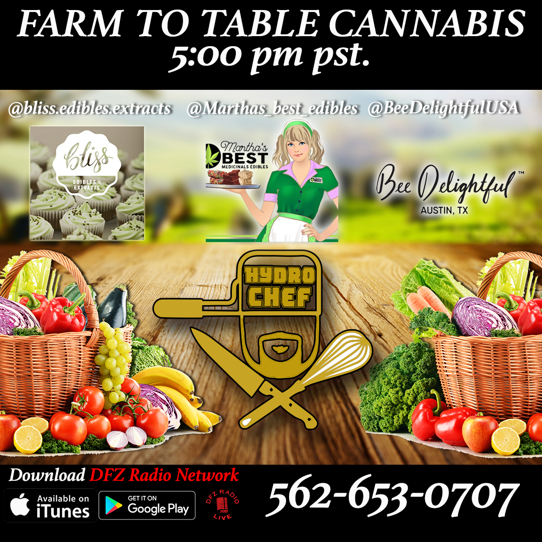 Farm to Table Cannabis ep # w/ Bliss Edibles Extracts, Martha�s Best Edibles, @BeeDelightfulUSA 8-15-17