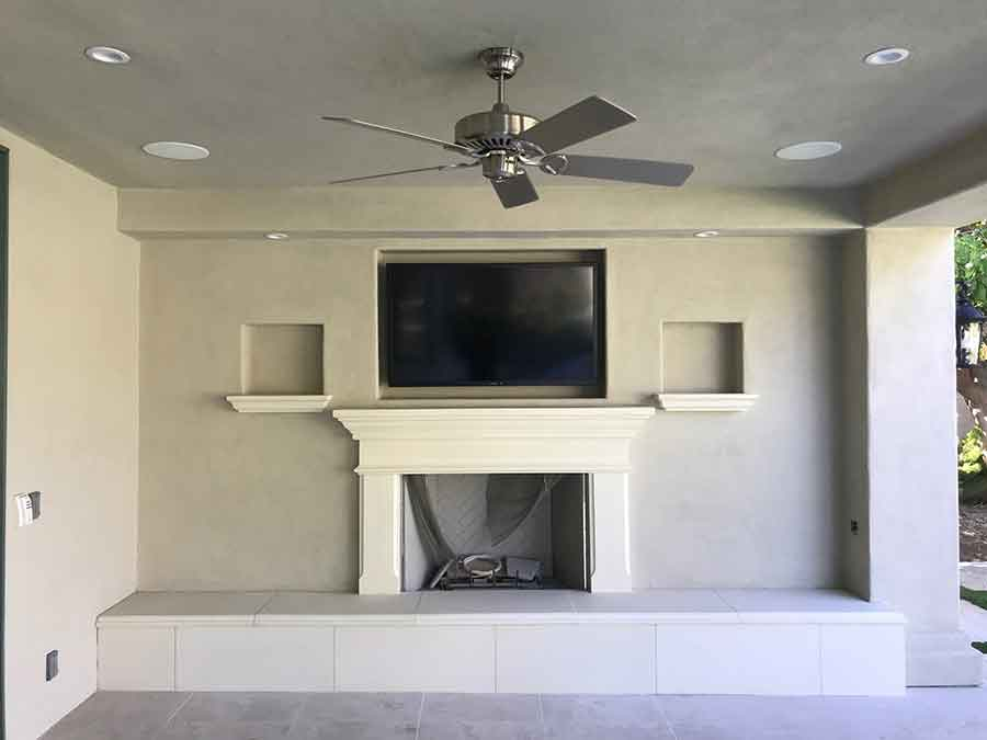 California Fireplace-Custom Raised Hearth