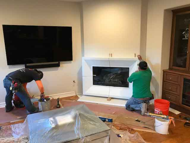 California Fireplace-Custom Home Irvine