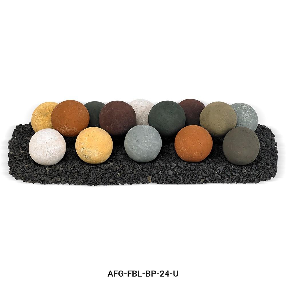 Beach Pebble Lite Stone Ball Set - Uniform 4 inches