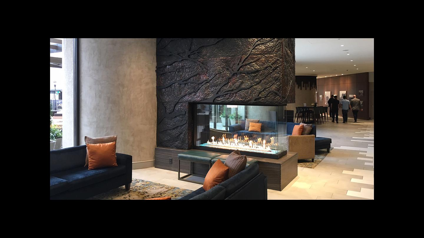 Modern California Fireplace