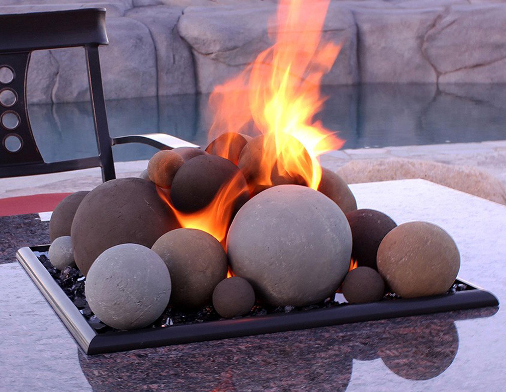 Sundance Yellow Lite Stone Ball Set Mixed