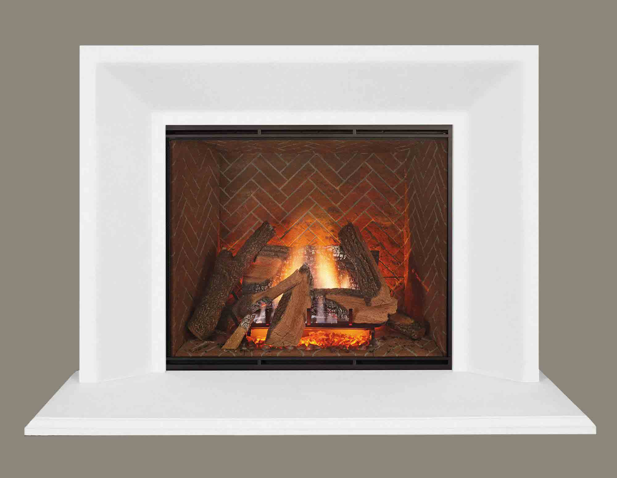 Pre-Cast Contemporary -Fireplace Calmantel