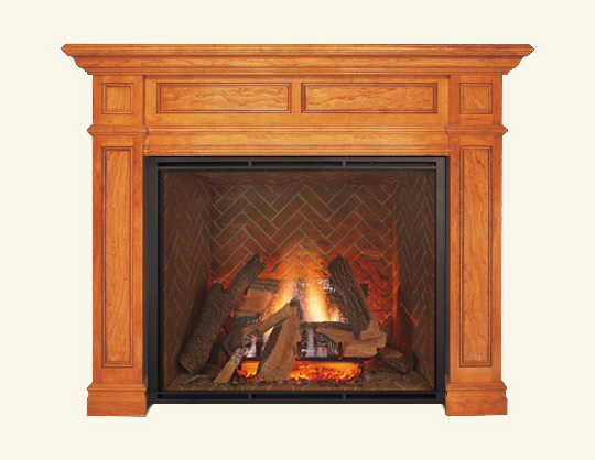 Wood- Fireplace calmantel store