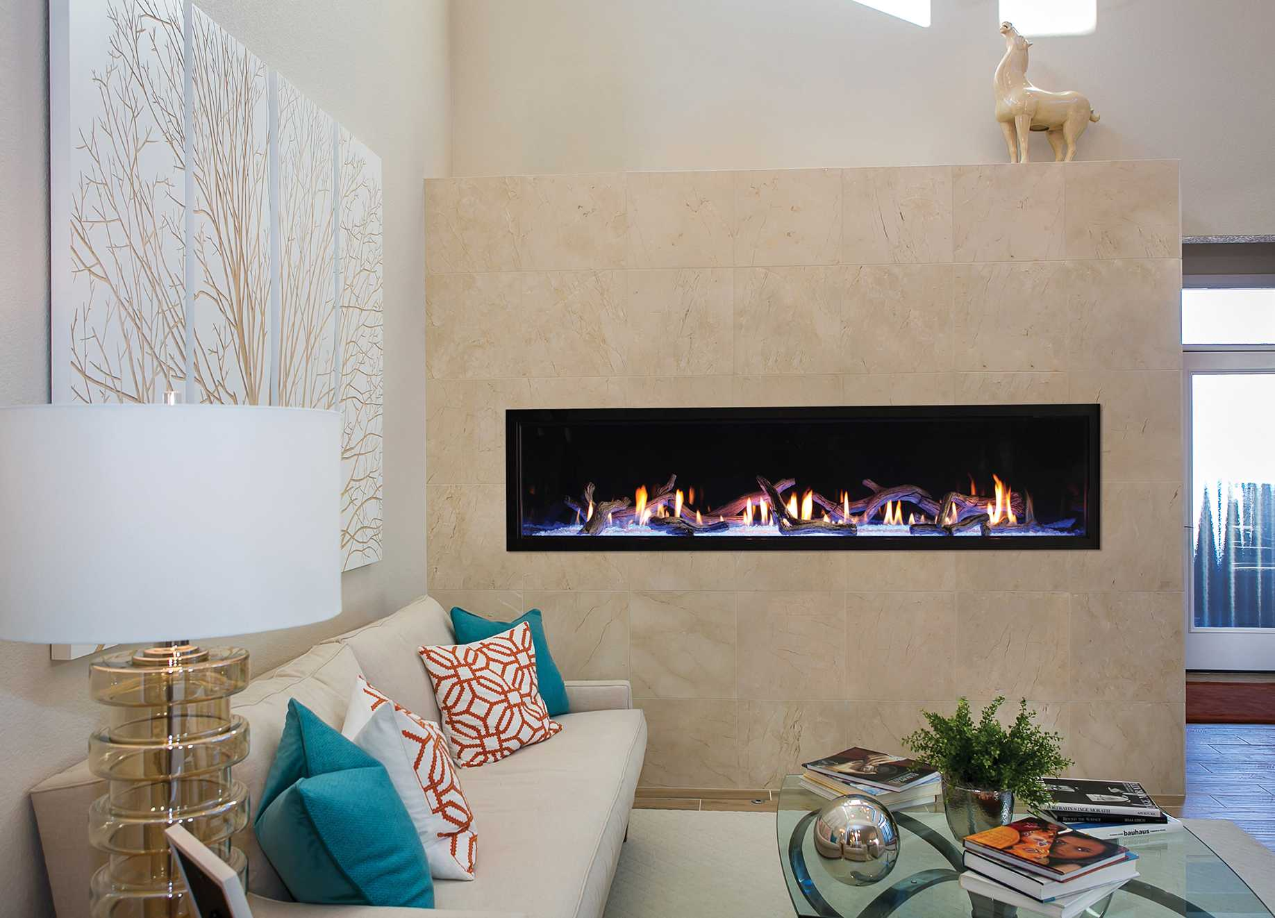 Pre cast modern california fireplace