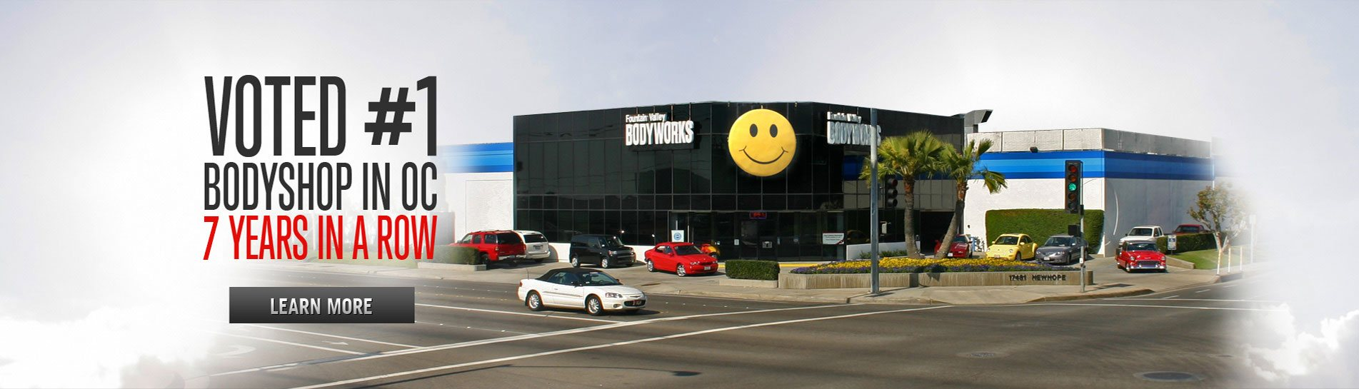 Voted #1 Bodyshop in oc 7 years in a row